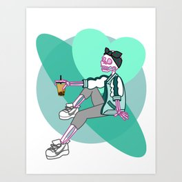 Boba Skelly Art Print