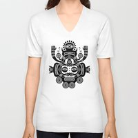 tatoo V-neck T-shirts featuring Râ Tatoo by Exit Man