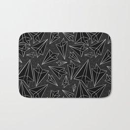 Paper Airplanes Black Bath Mat