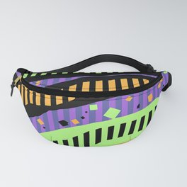 ABSTRACT PIANO KEYS IN LIVING COLOR Fanny Pack