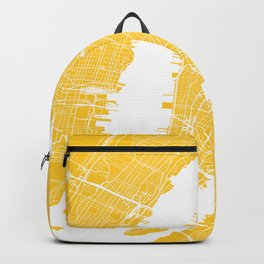 Yellow City Map of New York, USA Backpack