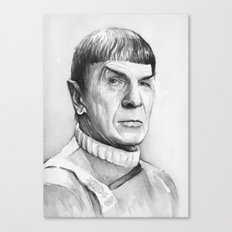 Spock Leonard Nimoy Portrait Canvas Print