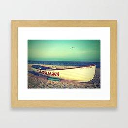 Cape May Lifeboat Framed Art Print