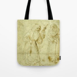 Two witches by Hieronymus Bosch Tote Bag
