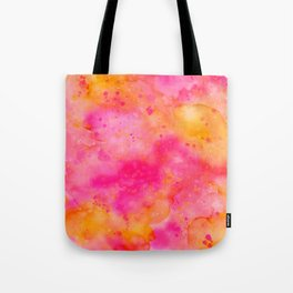Pink & Orange Watercolor Background Tote Bag