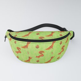 Red Squirrel Pattern Fanny Pack