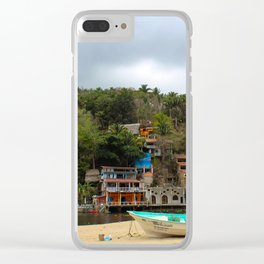Dreamy Mexican Beach Day Clear iPhone Case