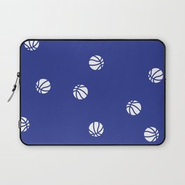 Basketball Blue Pattern Dribble Ball Court Hoops Game Laptop Sleeve