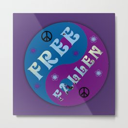 Tom Petty Free Fallin Metal Print