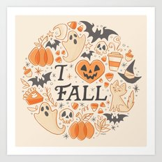 I Love Fall Art Print