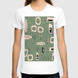 Mid-Century Atomic Green Abstract T-shirt