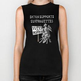 Satan Supports Suffragettes Biker Tank