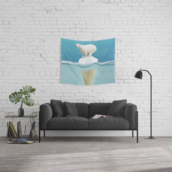 Polar ice cream cap Wall Tapestry