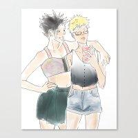 haikyuu Canvas Prints featuring KuroTsuki Haikyuu!! by Pruoviare