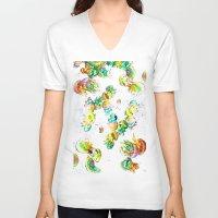 rasta V-neck T-shirts featuring Rasta Jellies by Heidi Fairwood