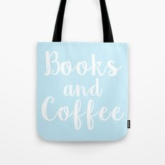 Books and Coffee - Blue Tote Bag