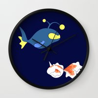finding nemo Wall Clocks featuring Nemo, I choose you! by Mariotaro