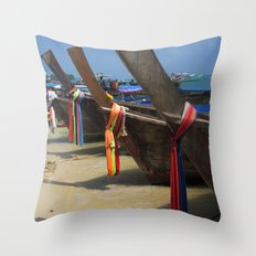 Colours on Shore Throw Pillow
