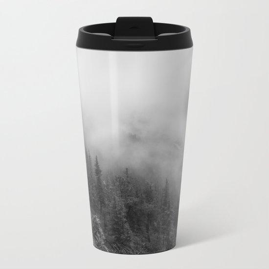 Fog in the Mountains Metal Travel Mug