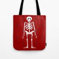 skeleton Tote Bags featuring Skeleton by Emma Harckham