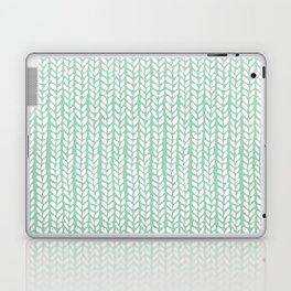 Knit Wave Mint Laptop & iPad Skin