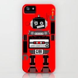 80s Mix Tape Robot - Gene (KISS TRIBUTE) iPhone Case
