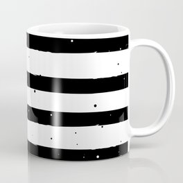 Black and White Stripe Coffee Mug