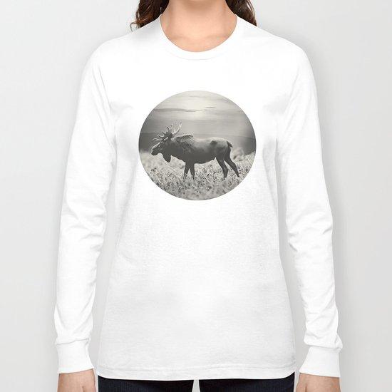 Moose Walk  Long Sleeve T-shirt