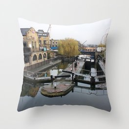 Camden Canal London 1 Throw Pillow