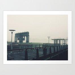 Fog Strewn Pier Art Print