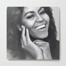Michelle Obama - Celebrity Art Metal Print
