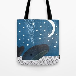 The Whale And The Moon Tote Bag