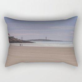 Twin Lights at Good Harbor beach Rectangular Pillow