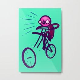 Cycling Disaster Metal Print