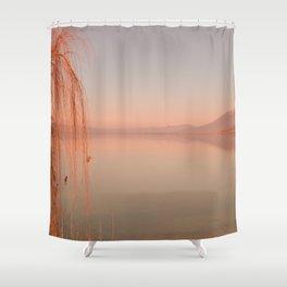 Autumn Lake Sunset Shower Curtain