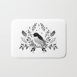 A Bird with Seven Moons Bath Mat