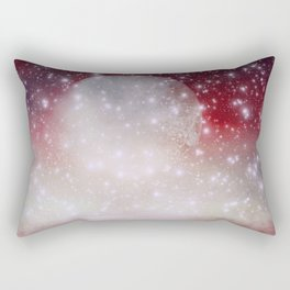 Red Moon Rectangular Pillow