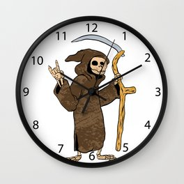cartoon grim reaper. Wall Clock
