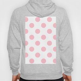 Small Polka Dots - Pink on White Hoody
