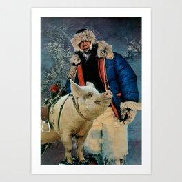 Hog Ride Art Print