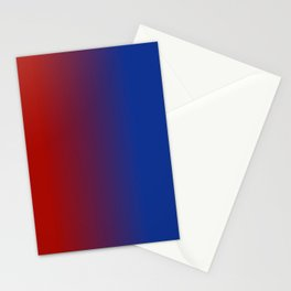 Ombre in Red Blue Stationery Cards