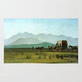 Surveyor's Wagon in the Rockies Rug