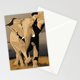 The Elephant's Marching Stationery Cards