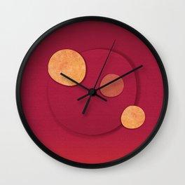 """Rose Gold & Cherry Polka Dots (Pattern)"" Wall Clock"