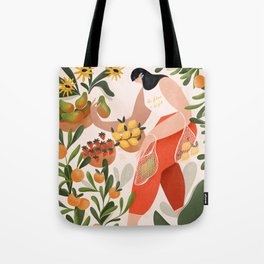 At the fruit market Tote Bag
