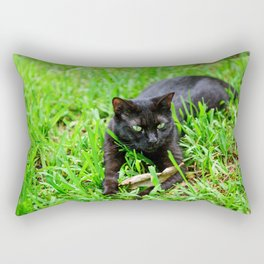 Green Eyes Rectangular Pillow