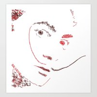 dali Art Prints featuring Dali by rebeccalbe