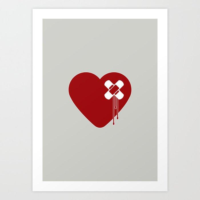 Heart Broken Art Print