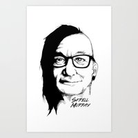 murray Art Prints featuring Skrill Murray by Ludwig Van Bacon