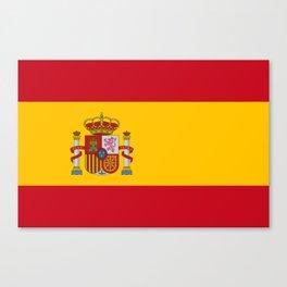 Flag of Spain Canvas Print